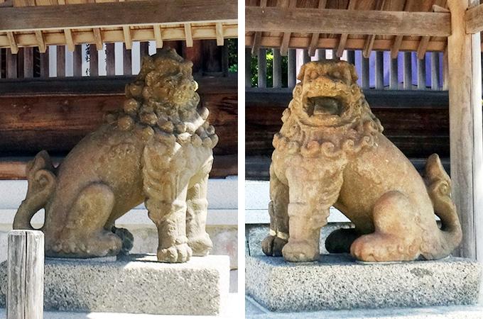天橋立③三社参り・元伊勢 籠神社(このじんじゃ)狛犬