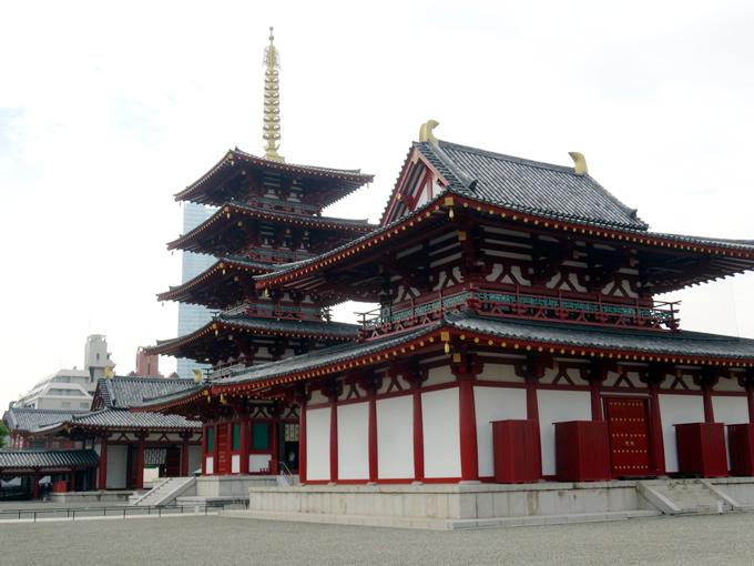 四天王寺の仁王門・五重塔・金堂