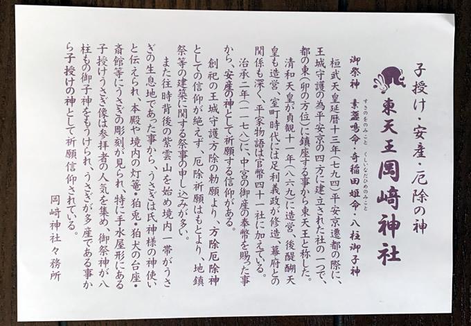 東天王 岡崎神社(京都市左京区)
