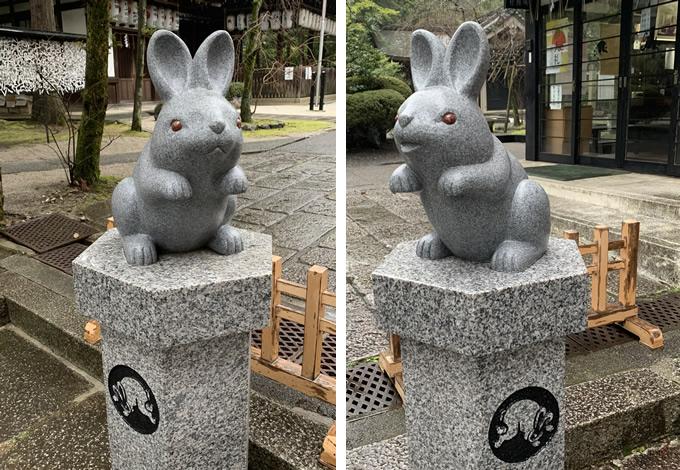 東天王 岡崎神社の狛うさぎ(京都市左京区)