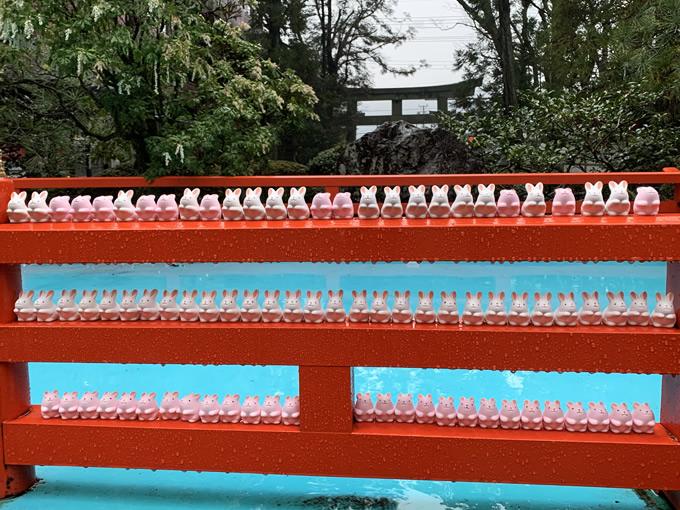 東天王 岡崎神社のうさぎ(京都市左京区)