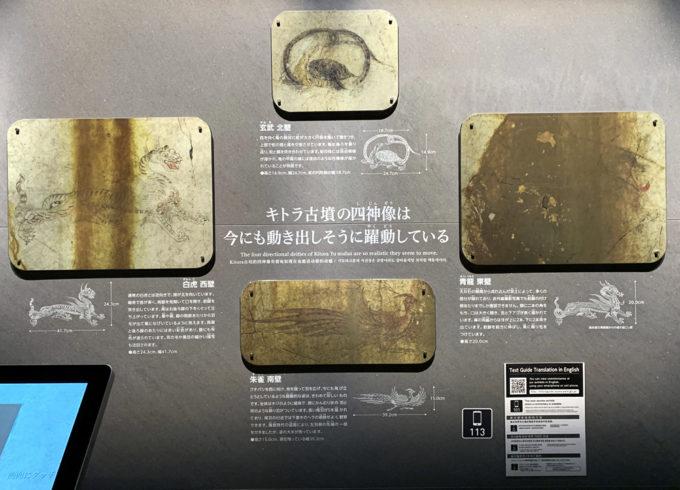 キトラ古墳の壁画(奈良県明日香村)