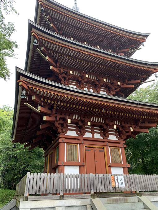 岡寺・三重塔(奈良県明日香村)