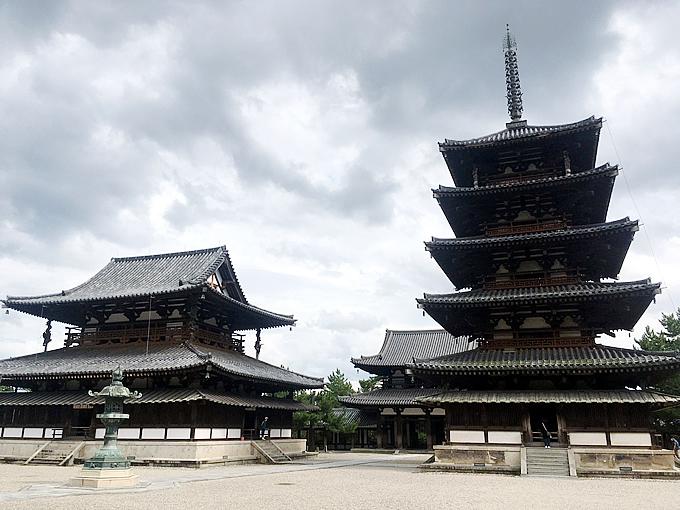 法隆寺・五重塔と金堂