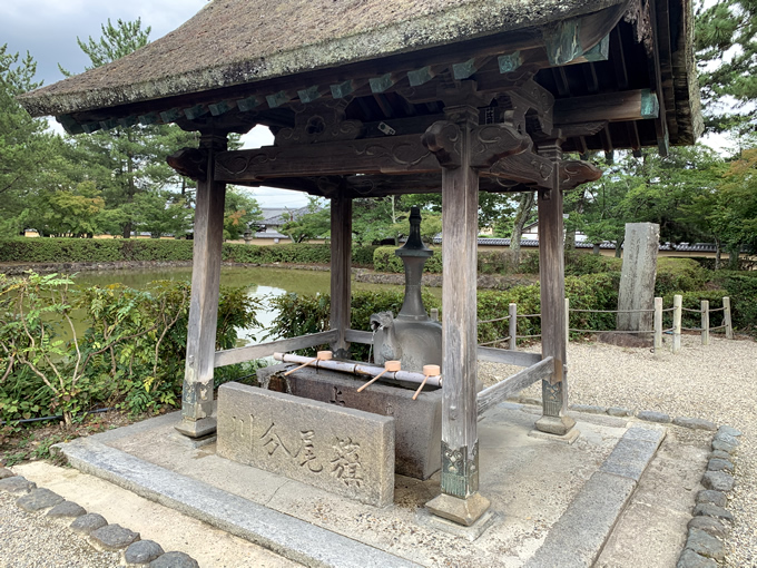 法隆寺・聖霊院前の手水舎